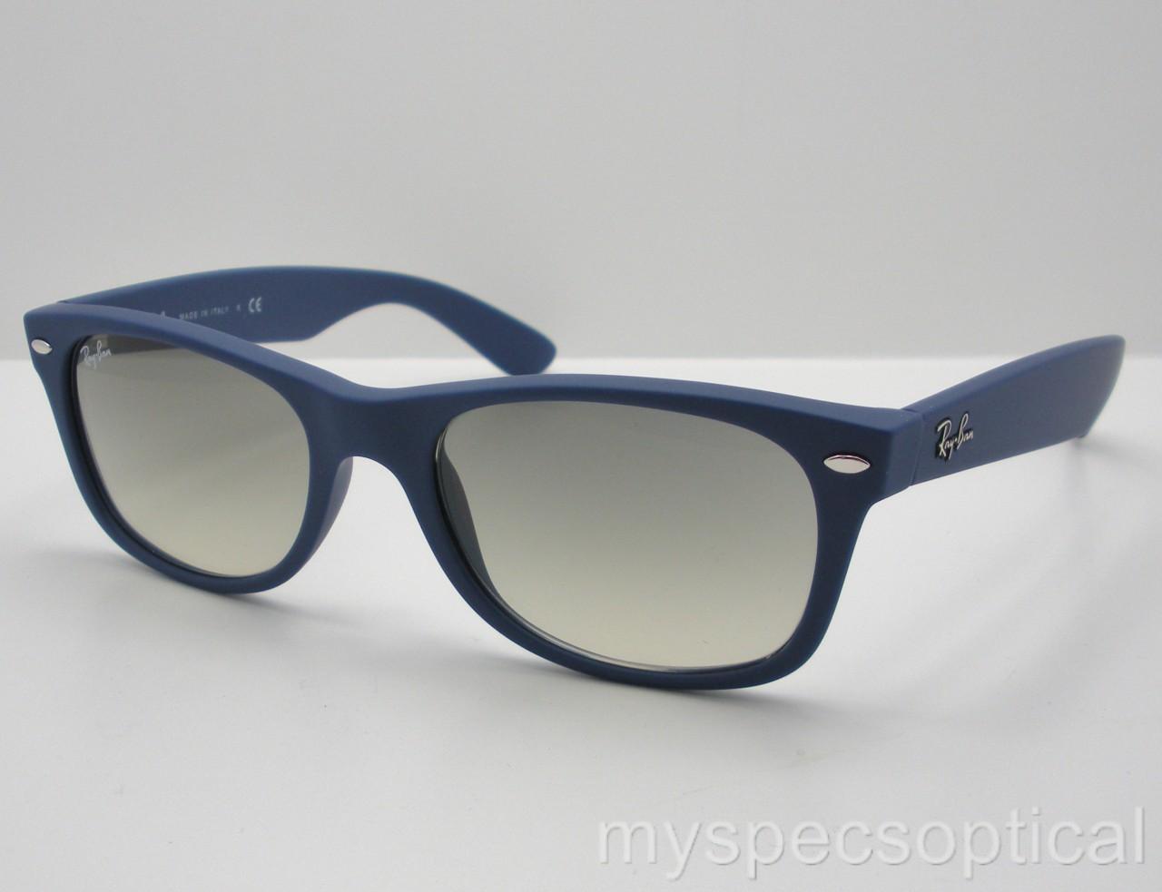 Ray ban 2132 811 32 new wayfarer matte blue grey gradient for Ray ban wayfarer verre miroir