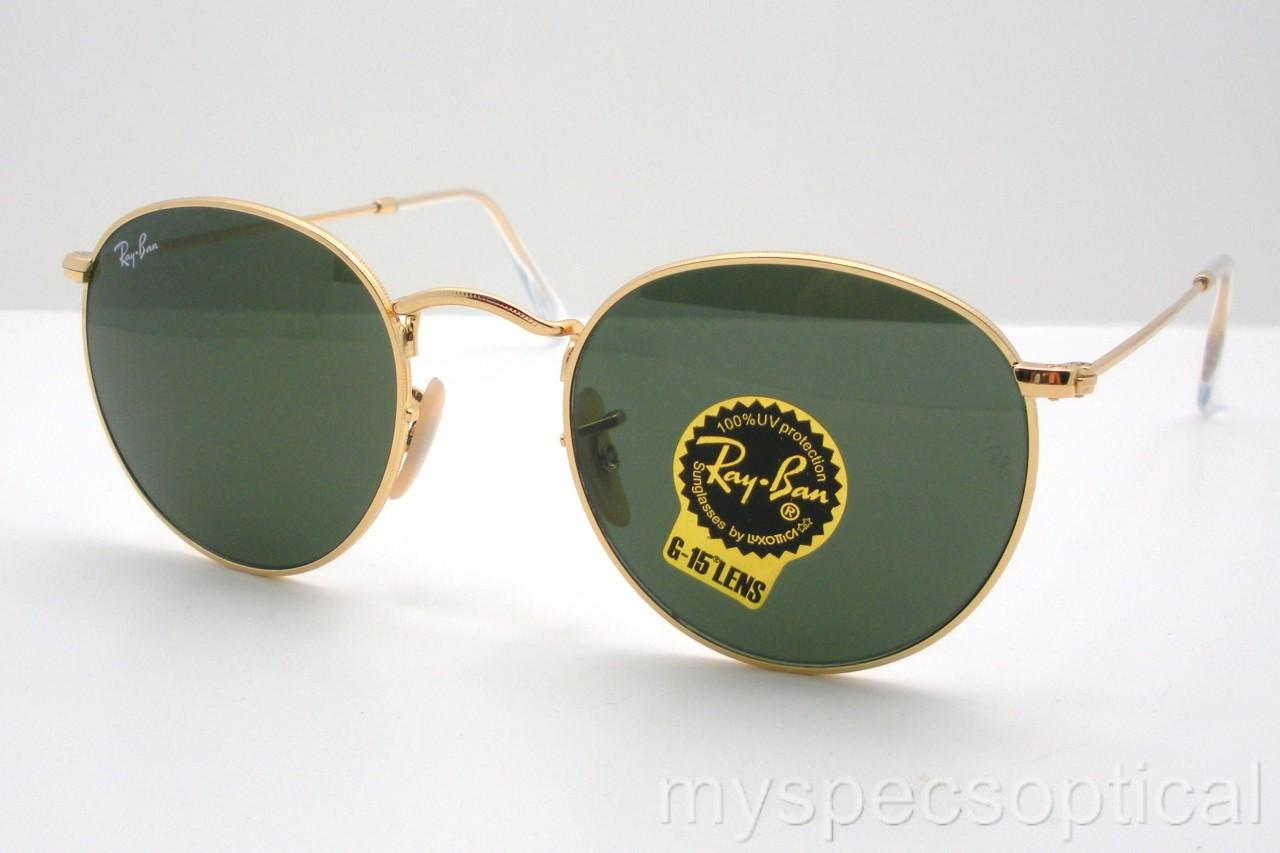 ray ban rb 3447 001 gold g15 green new sunglass authentic. Black Bedroom Furniture Sets. Home Design Ideas