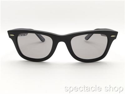 black polarized ray ban wayfarer of4p  Ray Ban Wayfarer 2140 901S/P2 Matte Black Polarized Medium Grey New  Authentic