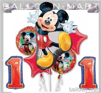 米老鼠第一个生日派对用品迪士尼第一气球男孩或女孩