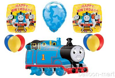 Thomas Train Balloons Party Supplies Blue Yellow Red Birthday Lot New Decoration