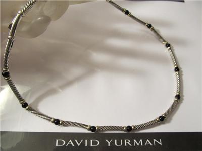 David Yurman Hampton 14k Gold Black Onyx Sterling Silver
