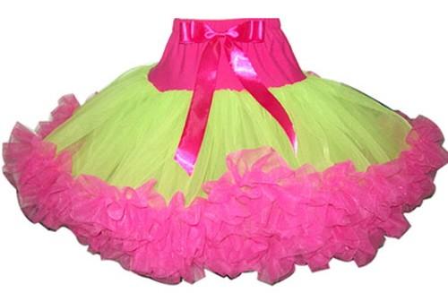 Hot Pink Lime Pettiskirt Tutu Baby 2T 3T 4 5 6 Tutus