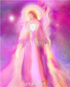 Guardian angel astaria heavenly angel art signed giclee for Angel paintings for sale