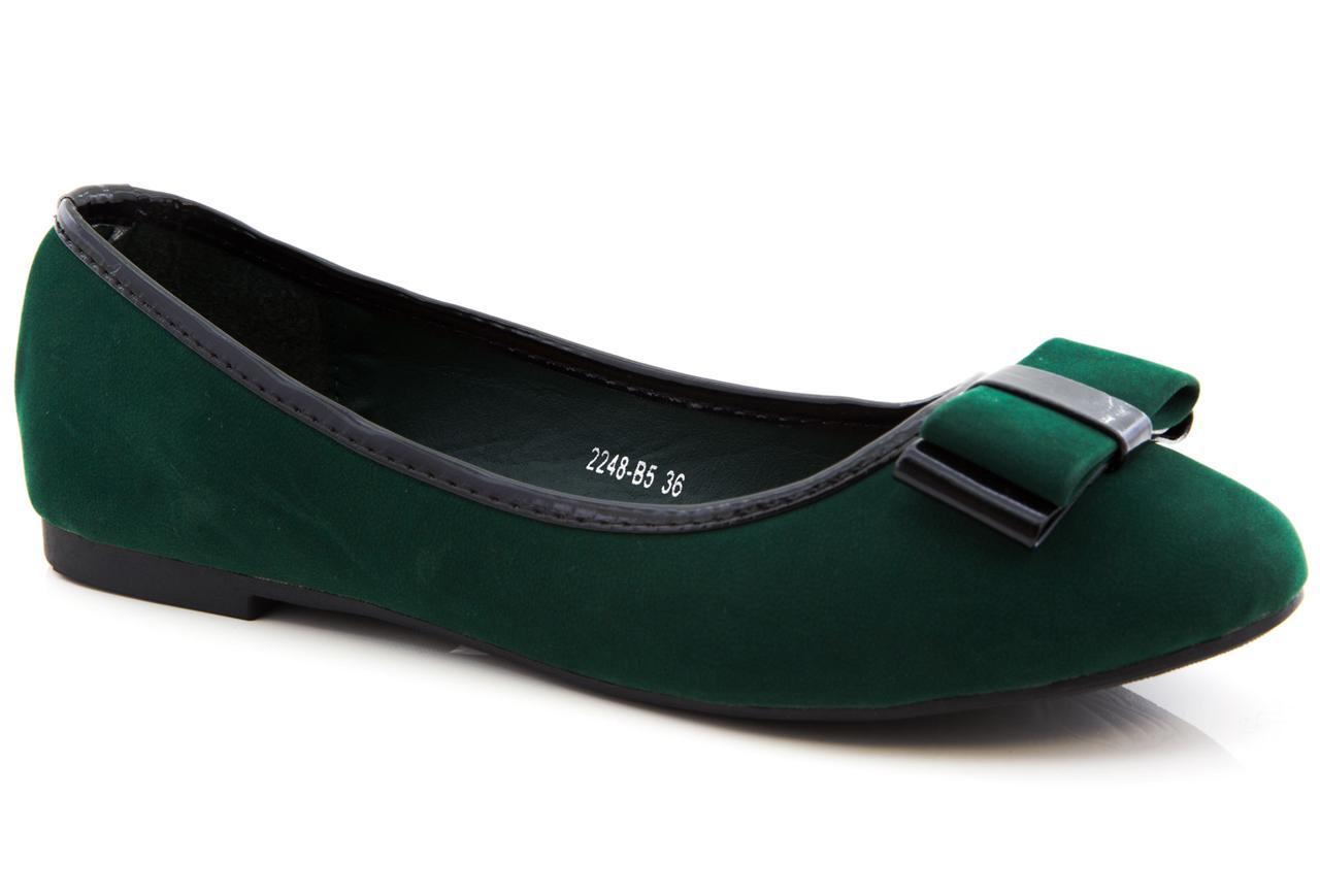 Nuevo Chicas Bailarina Arco de ante para mujer señoras plana Dolly Zapatos De Salón