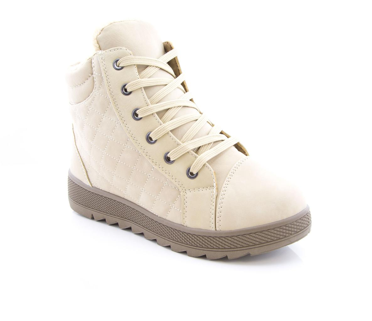 Ladies Womens Winter Full Fur Lining High Top Quilted Trainers Pumps Girls Shoes