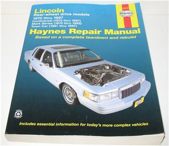 haynes lincoln continental mark series town car manual 1970 97 ebay. Black Bedroom Furniture Sets. Home Design Ideas