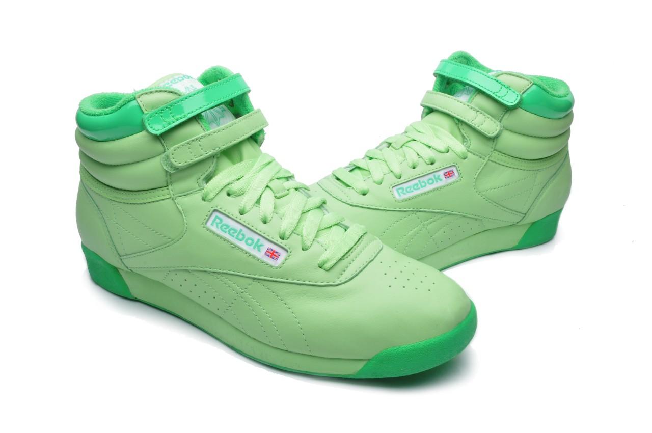Reebok-Women-039-s-Shoes-Freestyle-HI-2-952039-Delta-Green