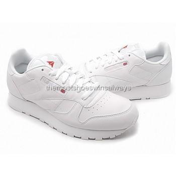 Details about Reebok mens shoes Classic Leather 1-9771 White