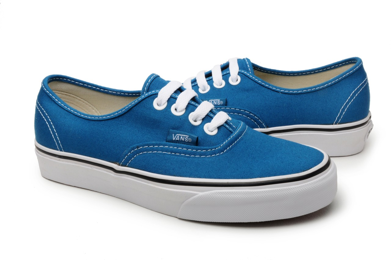 vans shoes authentic moroccan blue true white ebay
