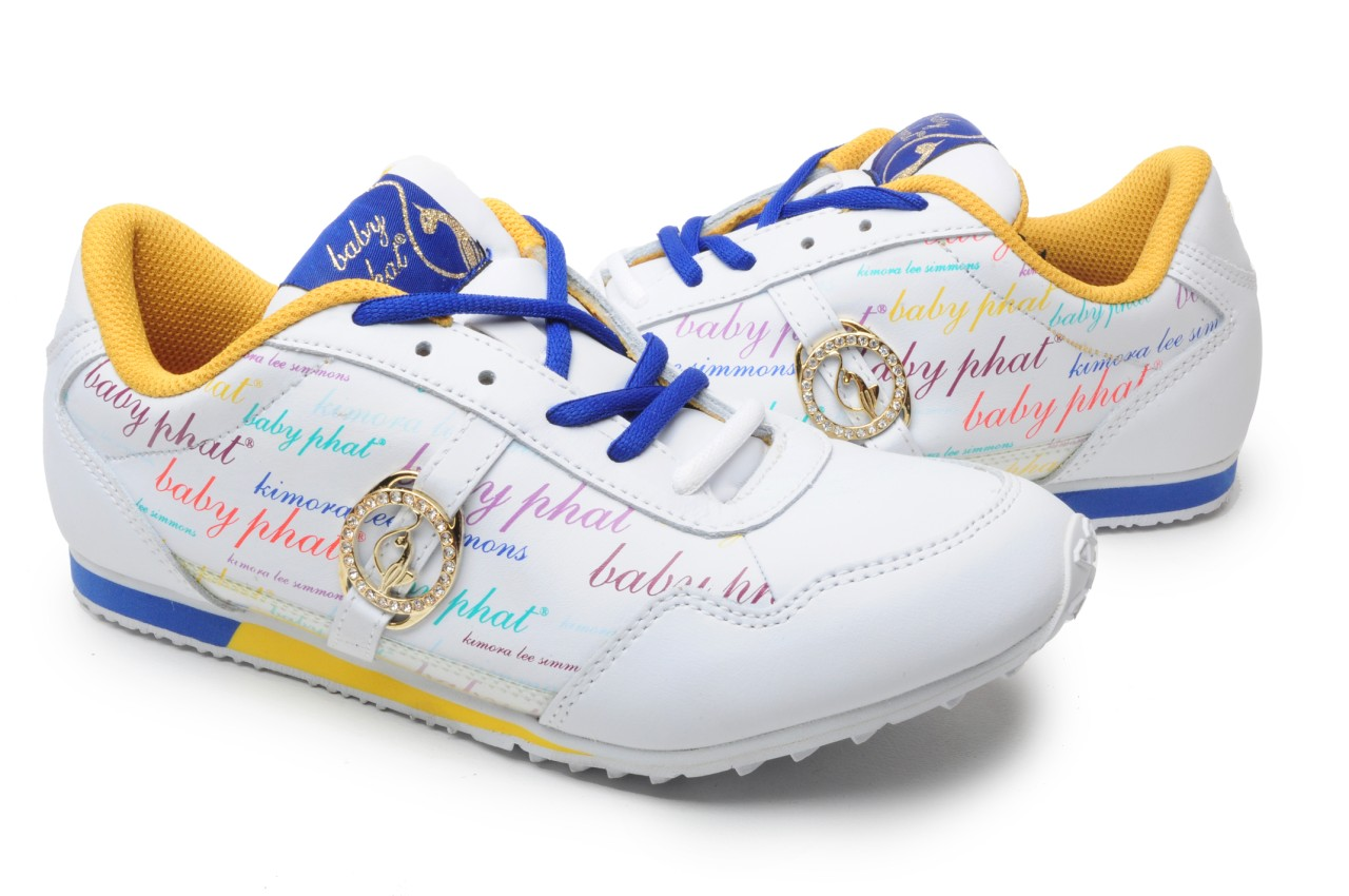 Details about Baby Phat Womens Shoes BP RUNNER SCRIP CLEAR WHT/Multi