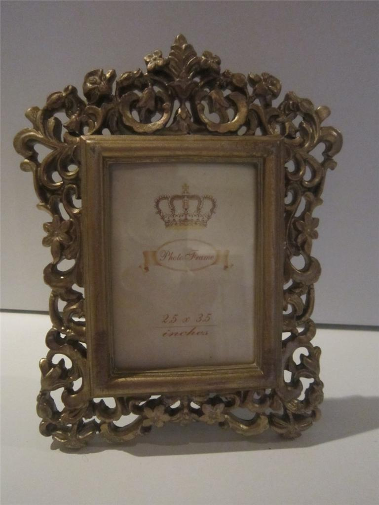 RECTANGULAR OVAL FRAME SMALL VINTAGE PHOTO PICTURE FREESTANDING PRESENT GIFT