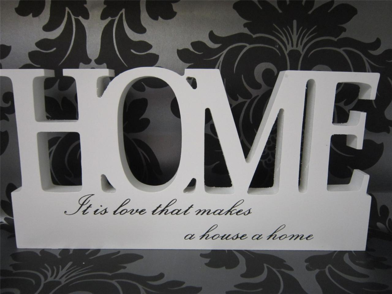 New family home love wood word block letter home accessory for Furniture 5 letters word whizzle