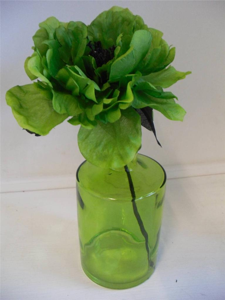 GLASS-BOTTLE-VASE-WITH-ARTIFICAL-FLOWER-ORNAMENT-ACCENT-DECOR-ACCESSORY-BATHROOM