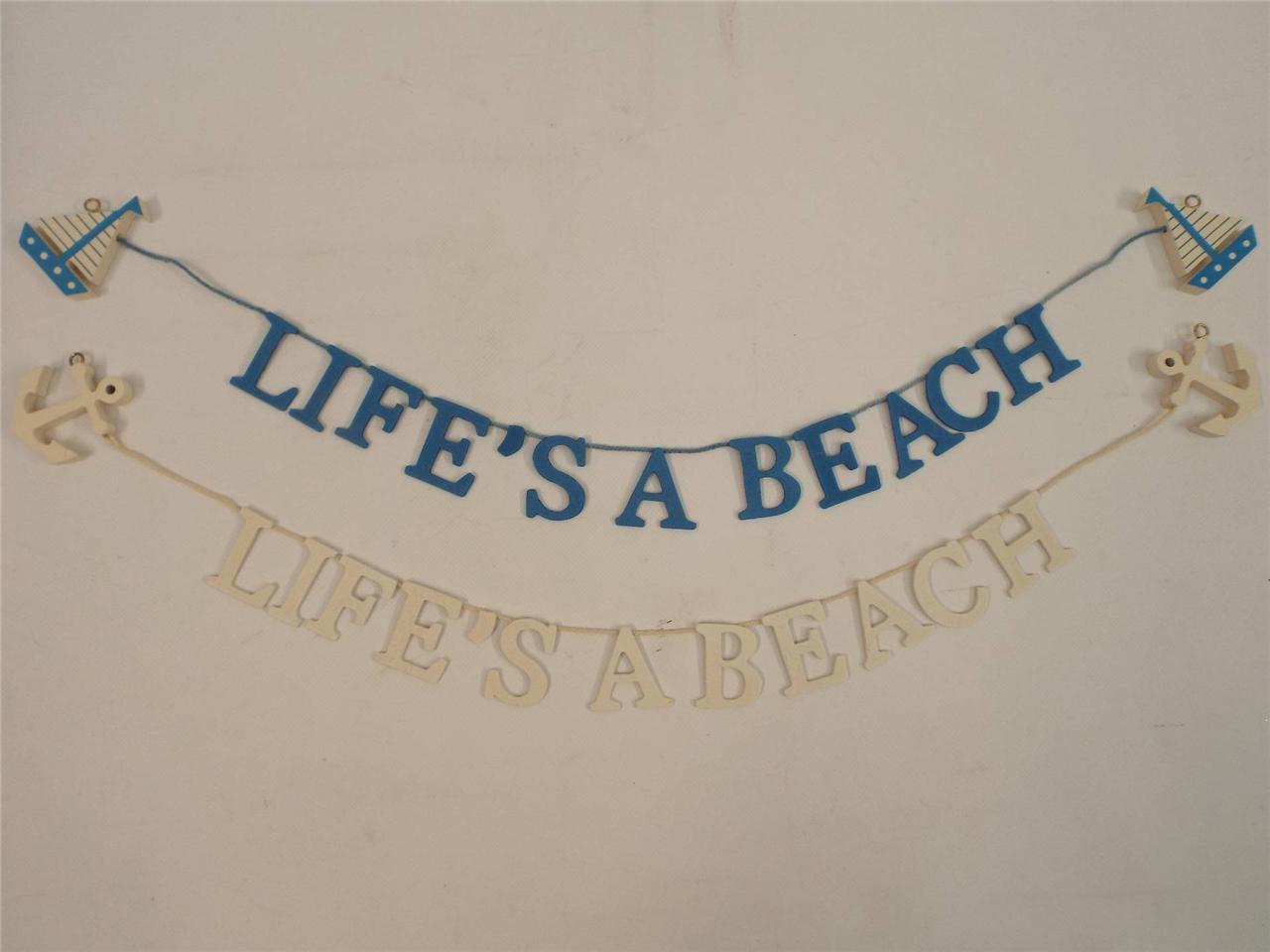 LIFES-A-BEACH-BLUE-GARLAND-NAUTICAL-BEACH-BATHROOM-HOME-DECORATIVE-DECOR-SEA