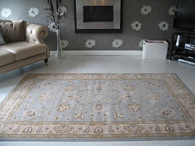 brand new afghan ziegler style duck egg blue beige wool. Black Bedroom Furniture Sets. Home Design Ideas