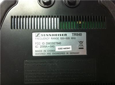 sennheiser set 840 s manual