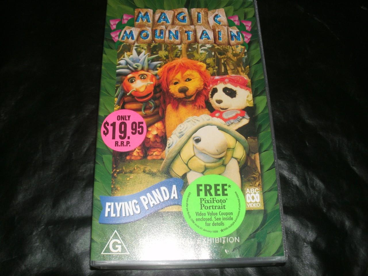 ABC-MAGIC-MOUNTAIN-FLYING-PANDA-MINT-SEALED-VHS-PAL-VIDEO