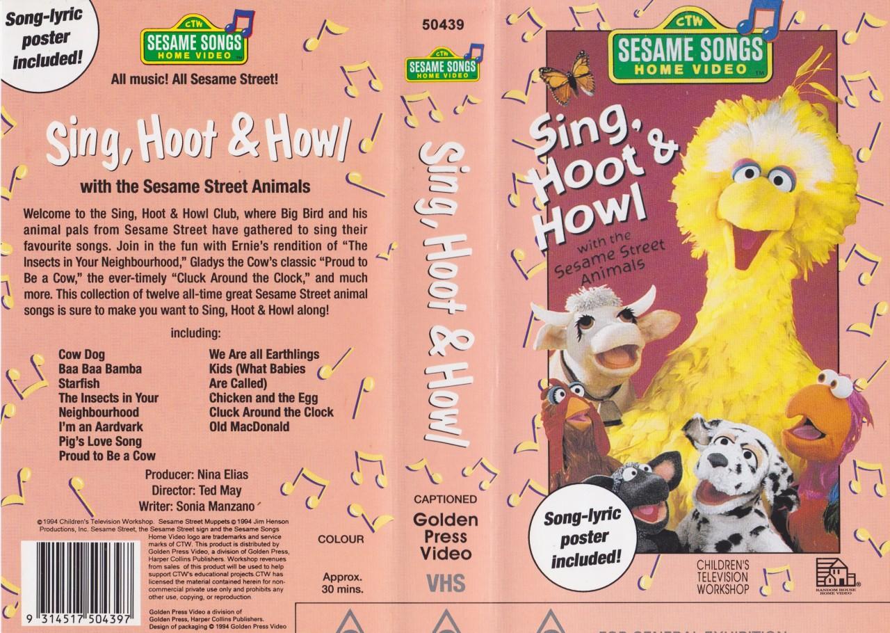 Sesame Street Sing Hoot And Howl Vhs SING HOOT & HOWL S...