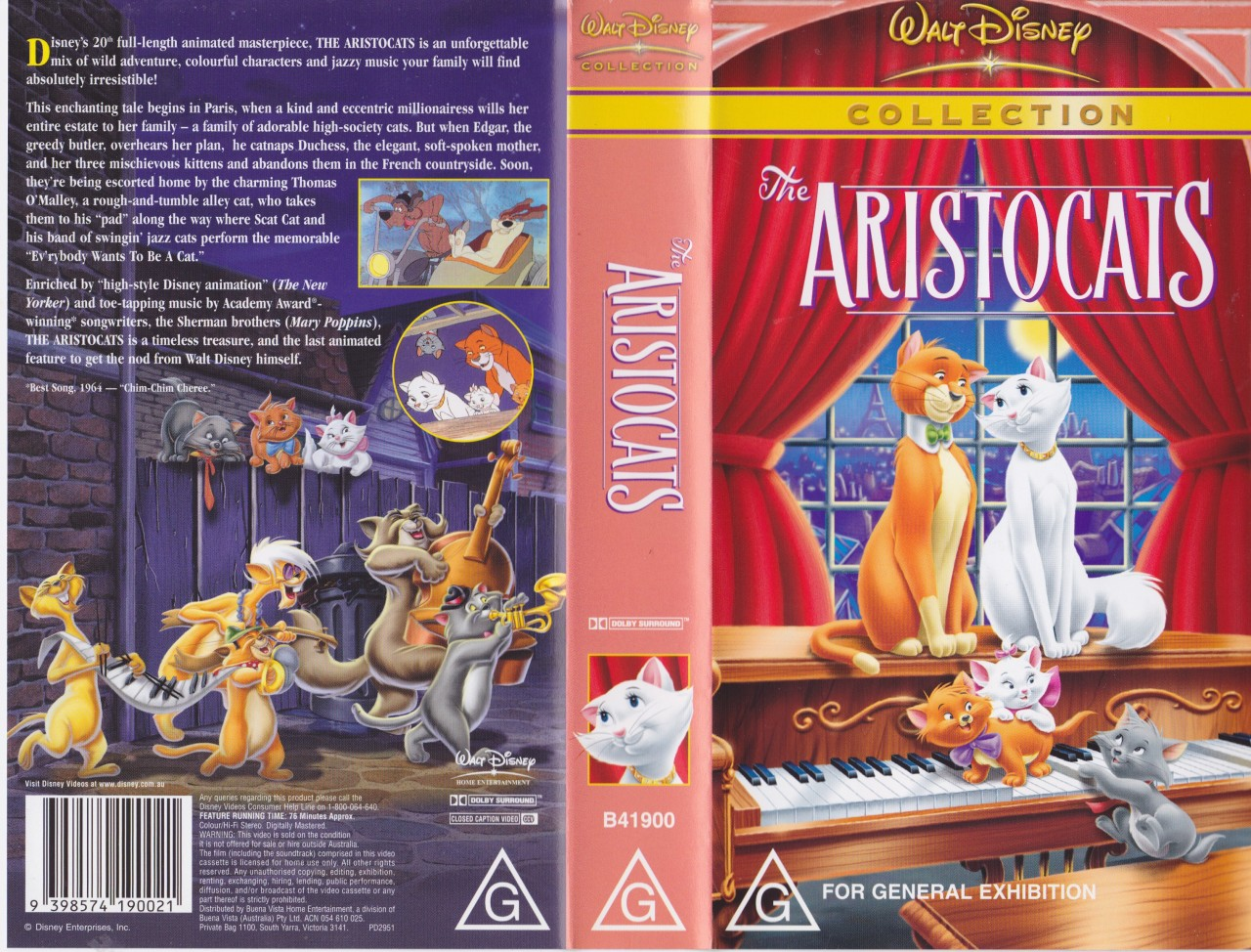 THE ARISTOCATS COLLECTION WALT DISNEY VHS VIDEO PAL~ A ...