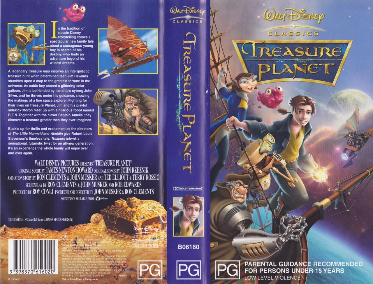 treasure planet walt disney vhs video pal a rare find