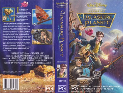 treasure planet disney a rare find vhs video pal