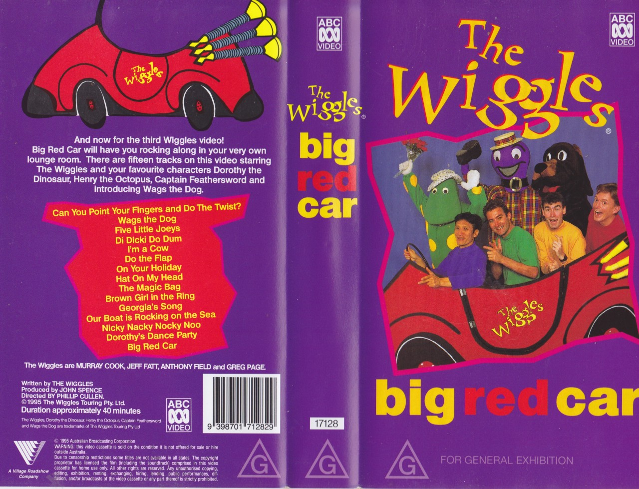 The Wiggles Big Red Car Vhs Video Pal A Rare Find Ebay