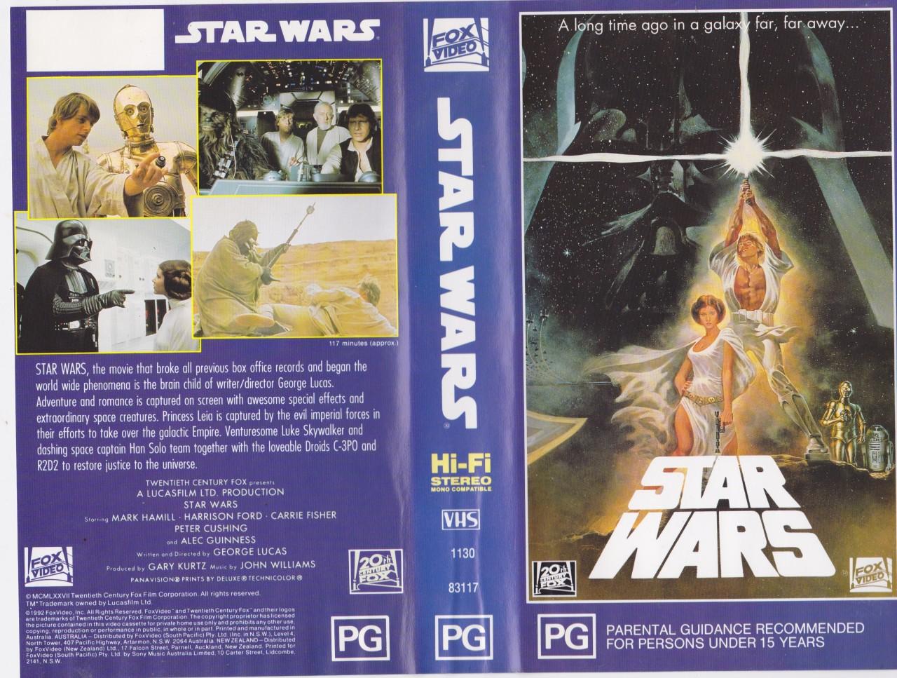 STAR-WARS-VHS-PAL-VIDEO-A-RARE-FND