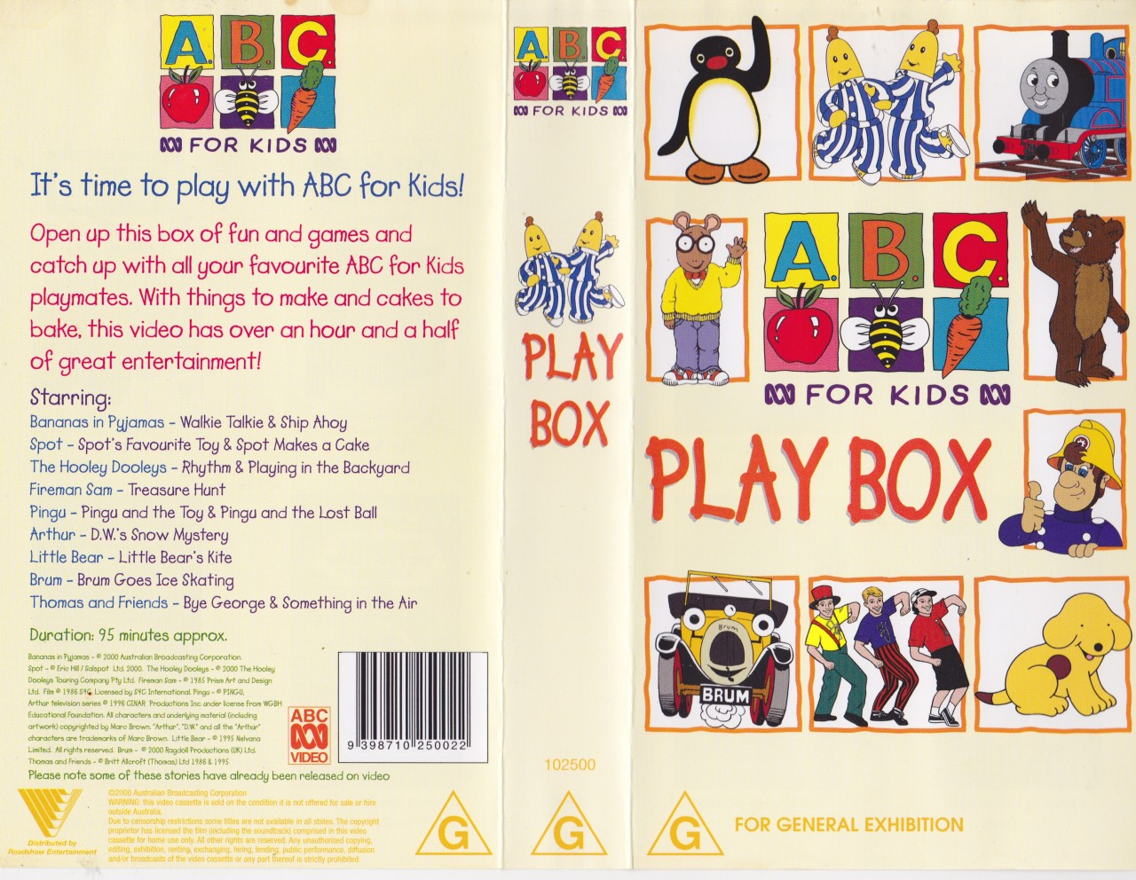 Abc For Kids Playbox Video Vhs A Rare Find In Excellent