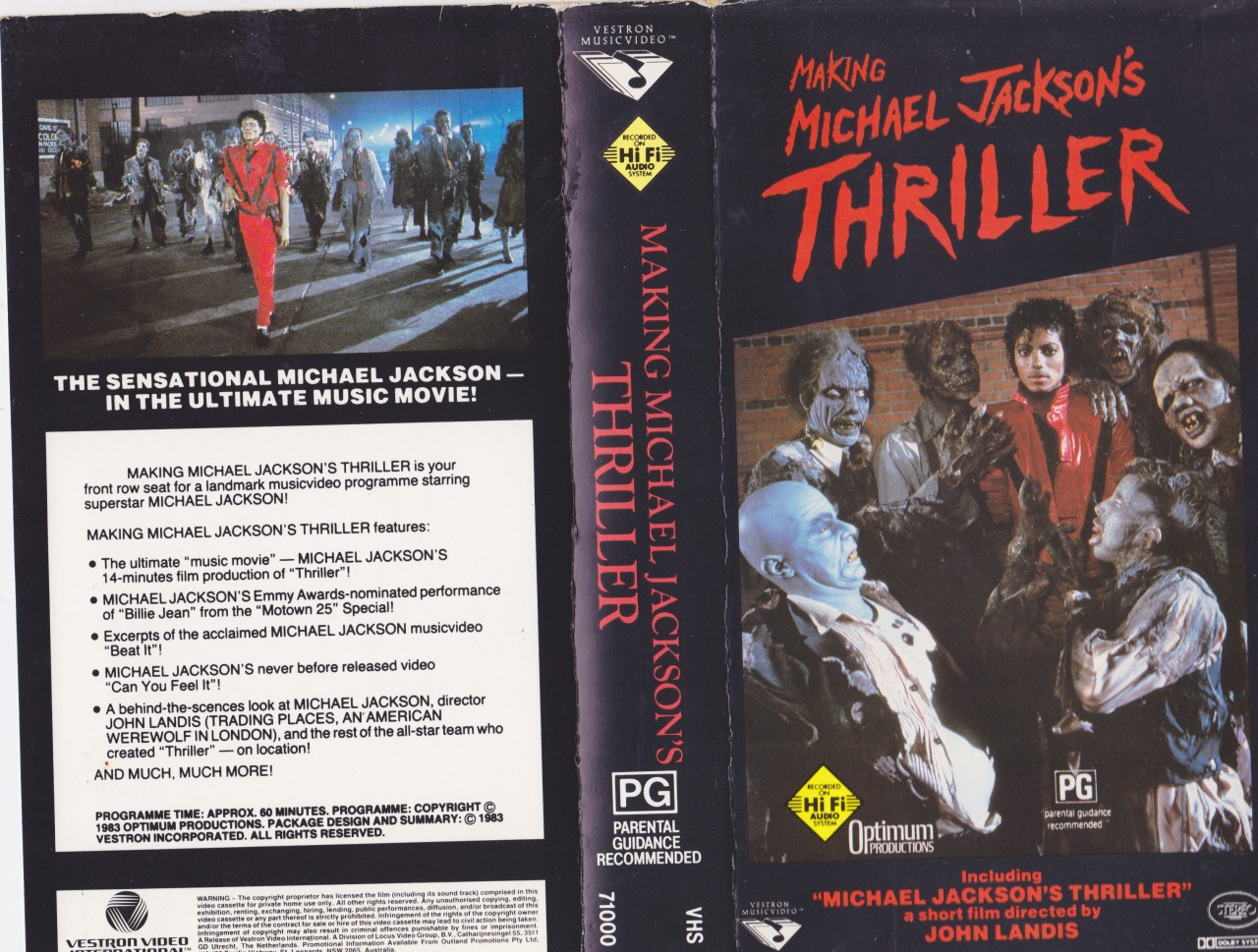 MICHAEL-JACKSON-VIDEO-MAKING-MICHAEL-JACKSONS-THRILLER-VHS-PAL-VIDEO-A-RARE-FIND