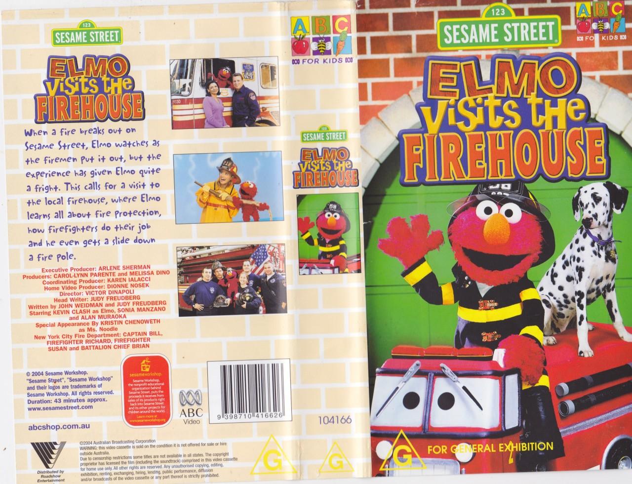 Sesame Street ABC Elmo Visits The Firehouse Video PAL VHS