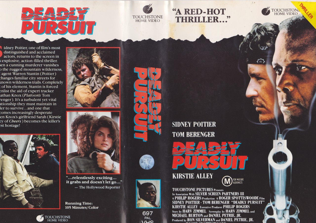 DEADLY-PURSUIT-TOM-BERENGER-VHS-PAL-VIDEO-A-RARE-FIND