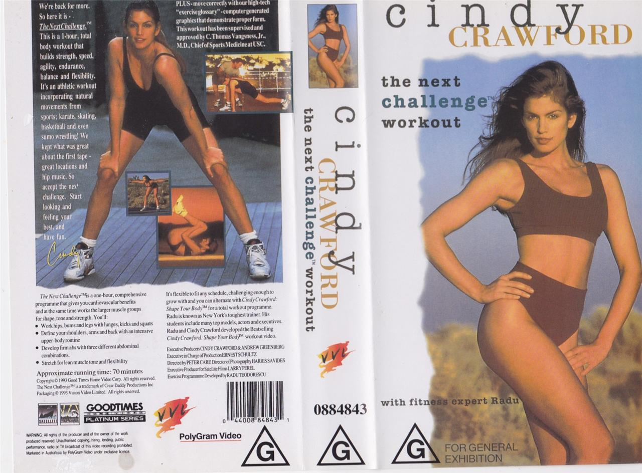 Cindy Crawford The Next Challenge Workout Vhs Pal