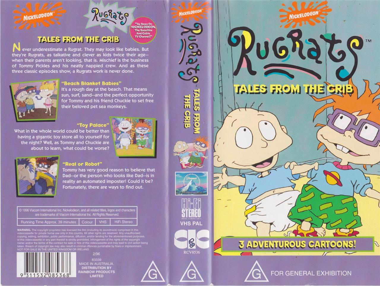 A Rugrats Tales From The Crib Vhs Pal Video A Rare Find Ebay