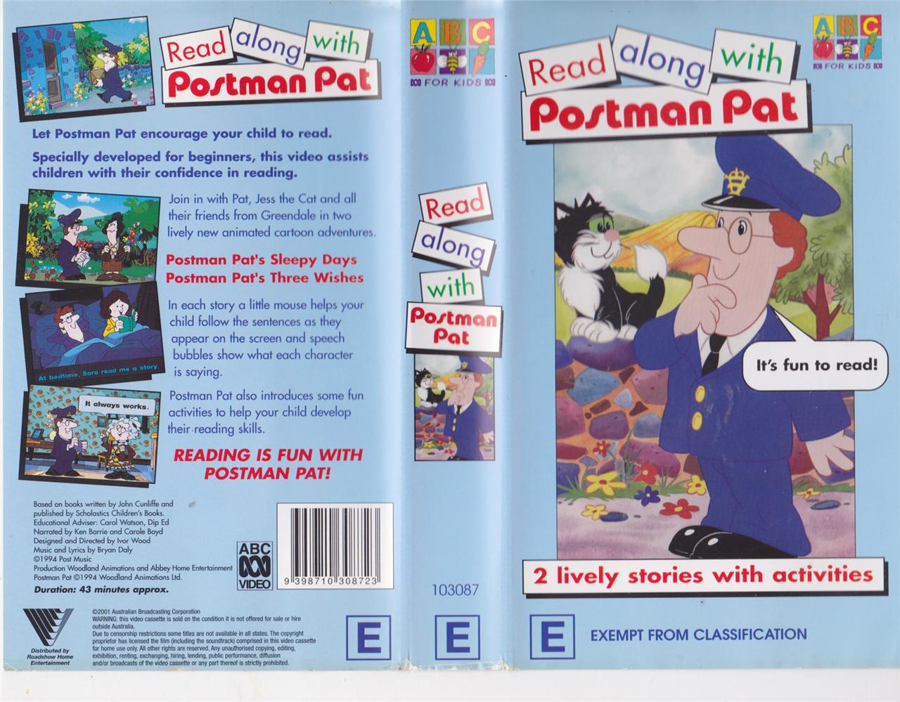 Details about POSTMAN PAT READ ALONG WITH POSTMAN PAT VHS PAL VIDEO