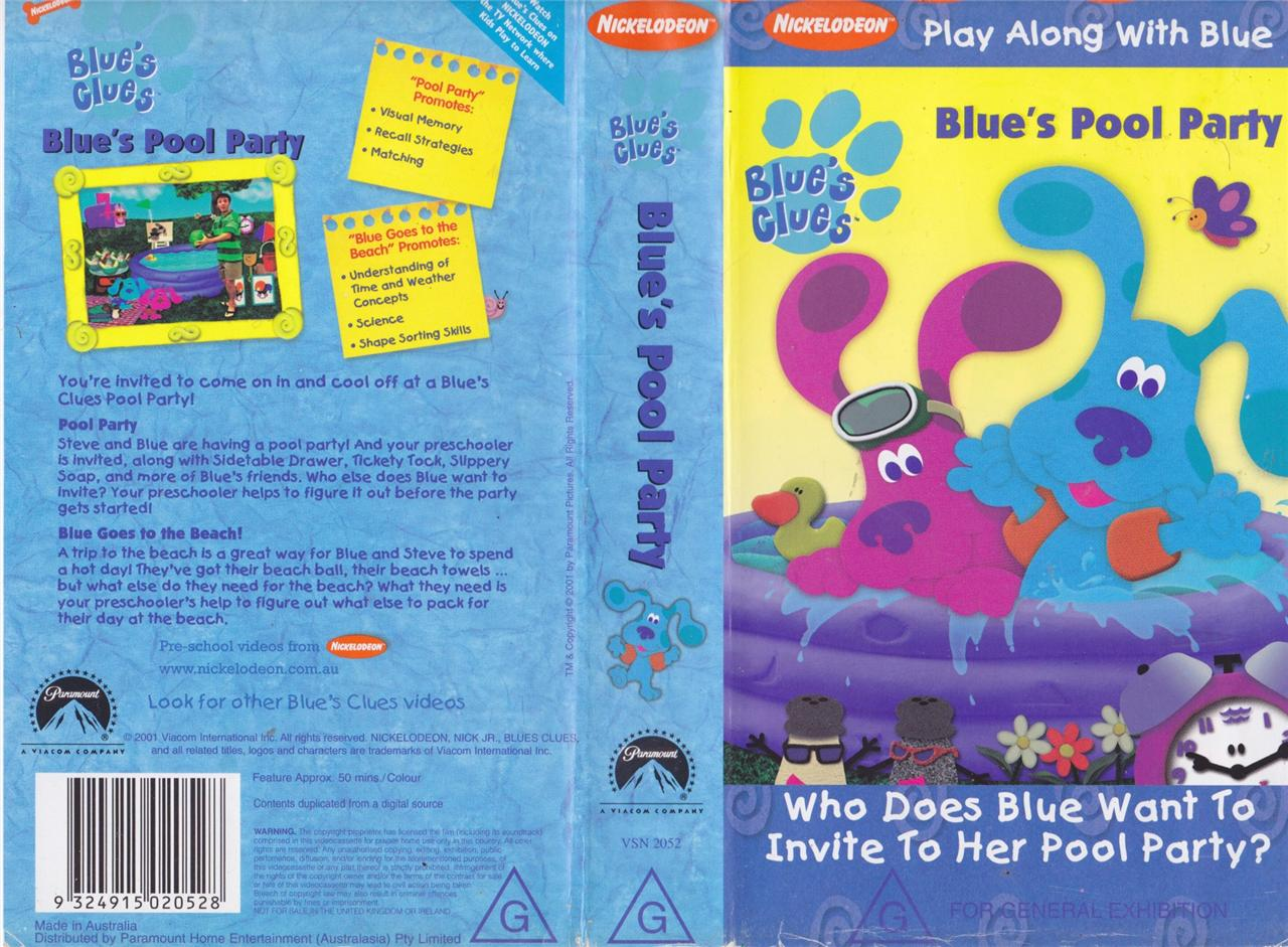 Blues clues pool party vhs video pal a rare find ebay - Pool and blues ...
