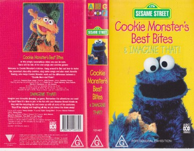 SESAME STREET ~COOKIE MONSTER BEST BITES ABC~ VIDEO PAL VHS