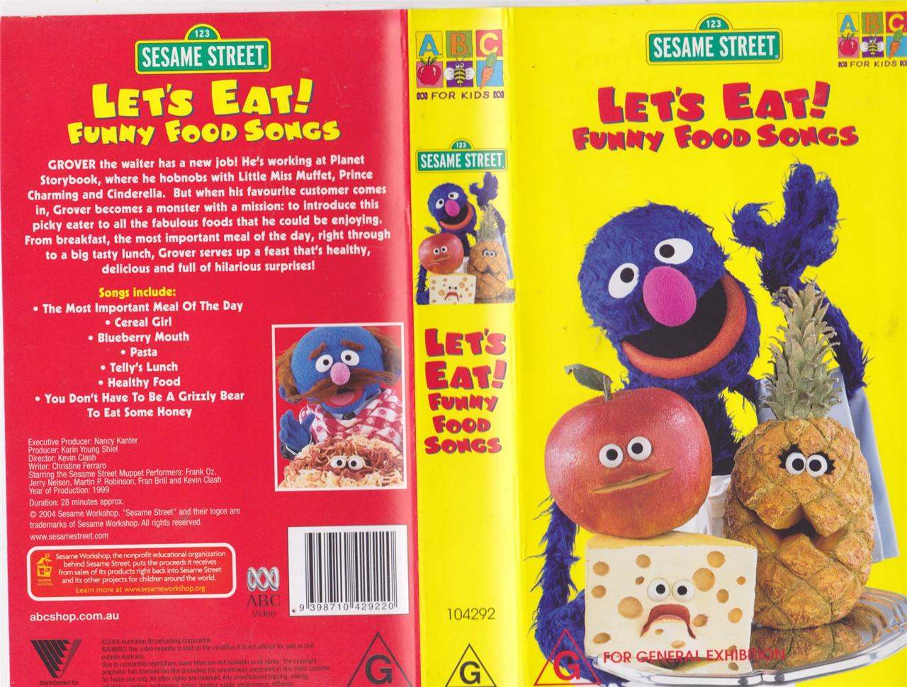 Elmo Lets Eat Funny Food Songs