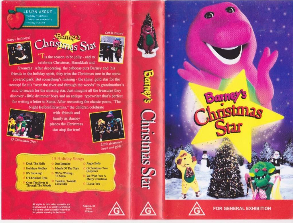 Barney s Christmas Star Video VHS Video PAL A RARE Find