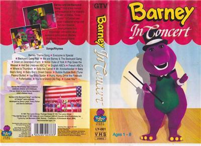 BARNEYS BARNEY IN CONCERT VHS VIDEO PAL A RARE FIND EBay - Barney backyard gang concert vhs