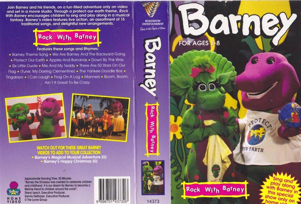 barney and the backyard gang rock with barney vhs rock with barney