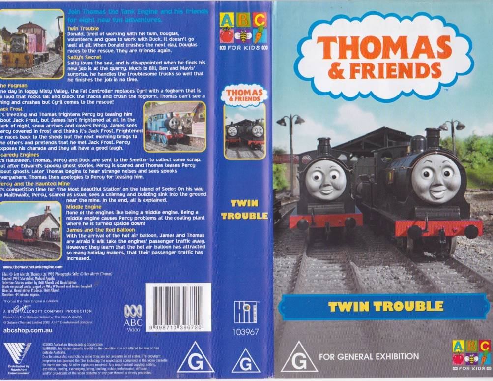Thomas the tank engine twin trouble vhs