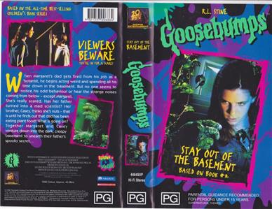 goosebumps stay out of the basement vhs video pal a rare