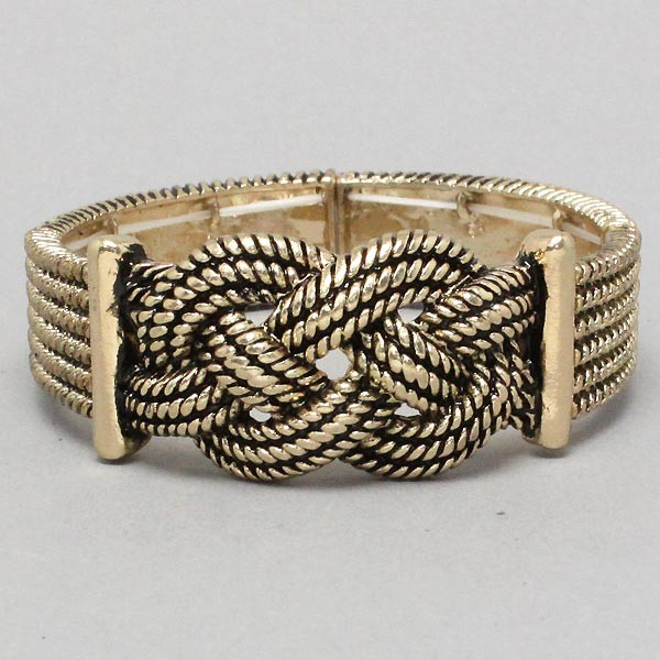 Chunky Burnished Gold Tone Knot Western Decorative ...