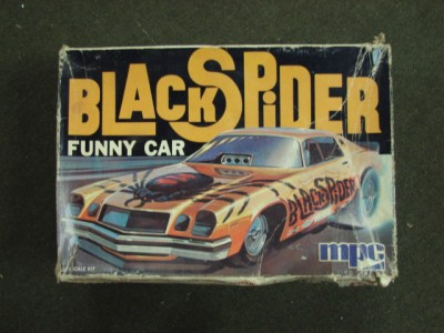 About BLACK SPIDER CAMARO FUNNY CAR VINTAGE MPC 1/25 SCALE