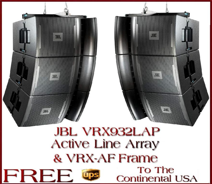 JBL, VRX, VRX932LA-1, Active, Powered Line, Array, DJ, PA, system