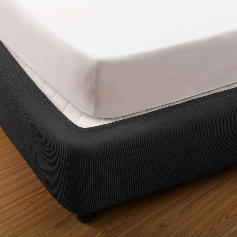 brand new box spring cover valance bedskirt 4 colours all sizes available ebay. Black Bedroom Furniture Sets. Home Design Ideas