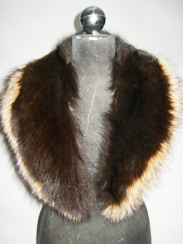 silver fur collar lined with satin