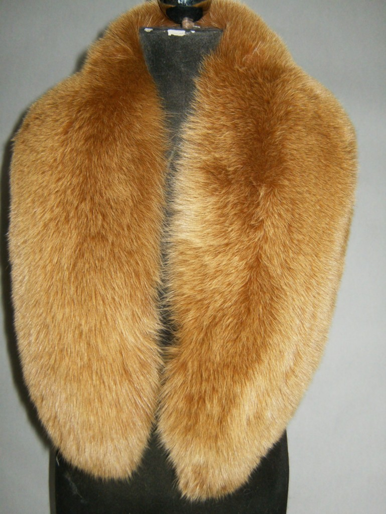 black and white fox fur collar
