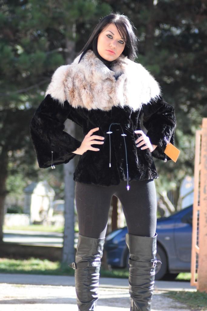 mink and lynx fur jacket